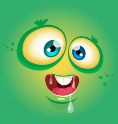 Cartoon funny monster face avatar vector