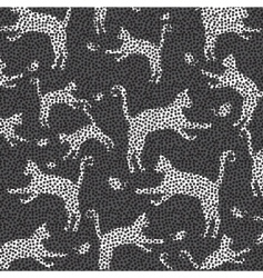 cat mosaic pattern vector image