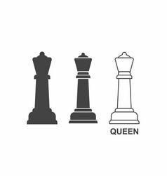 chess queen icon vector image