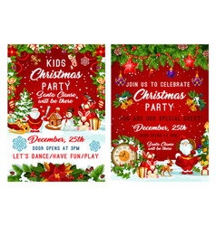 Christmas party and new year holiday invitation vector
