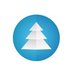 christmas tree icon blue circle vector image