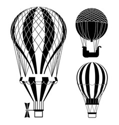classic hot air balloons or aerostats set vector image