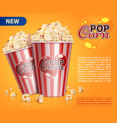 classic popcorn movie theater snacks vector image