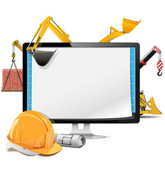 Computer Construction Project vector image