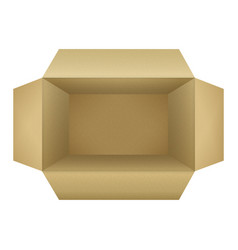corrugated cardboard box vector image