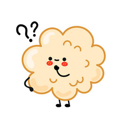 Cute happy funny popcorn with question marks vector