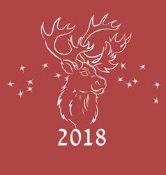 Deer outline handrawn vector