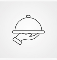 dish icon sign symbol vector image