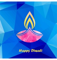 diwali traditional festive lamp vector image