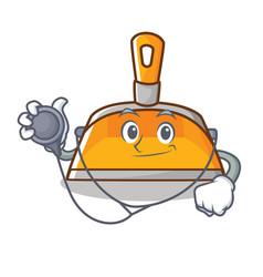 doctor dustpan character cartoon style vector image