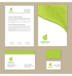 Eco green leaf logo template vector image