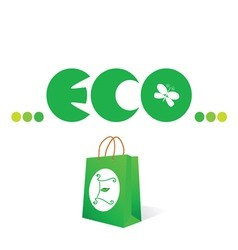 eco sign and symbol vector image