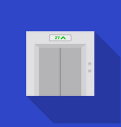 Elevator icon in flat style isolated on white vector