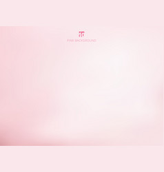 Empty gradient pastel pink studio room background vector