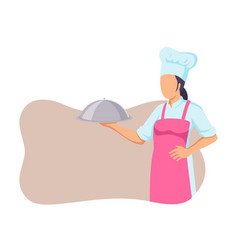 female chef vector image