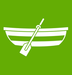 fishing boat icon green vector image