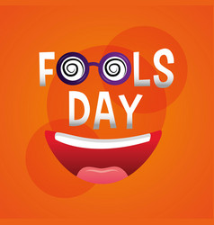 Fools day card funny celebration humor vector