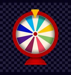 Fortune wheel logo colorful gamblig website vector