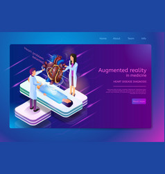 Future medical technologies isometric vector