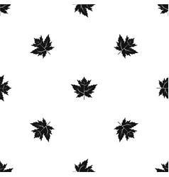 Gooseberry leaf pattern seamless black vector