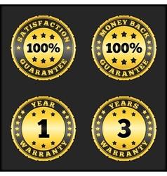 guarantee badges vector image