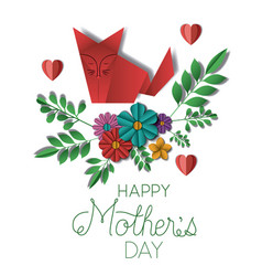 Happy mothers day with floral decoration and vector