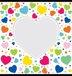 happy valentine day greeting design vector image