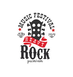 heavy rock music festival est 1979 logo design vector image