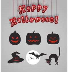 Helloween silhouettes vector image