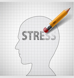 Human head with word stress vector