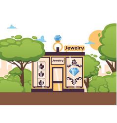 Jewelry store in park outdoor vector