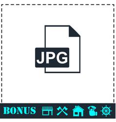 jpeg icon flat vector image
