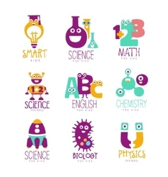 Kids Science Education Extra Curriculum Club Logo vector image