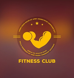 Logo for fitness club vector image