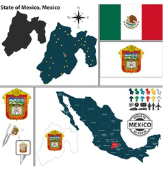 Map of Mexico vector image