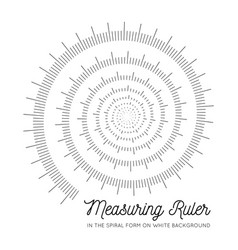 Measuring rulers in the form of a spiral vector