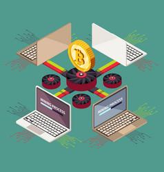 Mining cryptocurrency blockchain crypto money vector