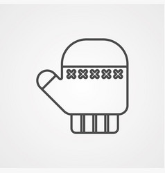mitten icon sign symbol vector image