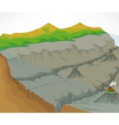 Ocean floor vector image