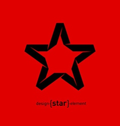 One color Imitation of Origami Star from paper vector image
