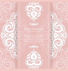 pink and white vintage greeting card vector image