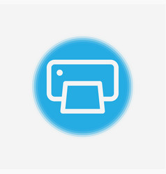 printer icon sign symbol vector image