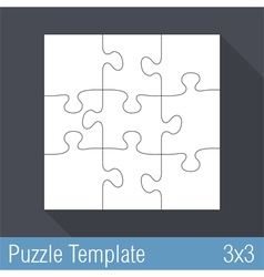 Puzzle Template 3x3 vector