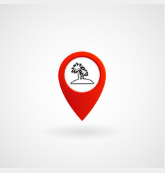red location icon for island eps file vector image