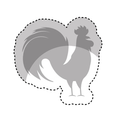 Rooster year isolated icon vector