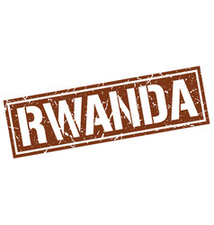 Rwanda brown square stamp vector