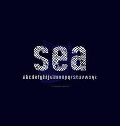 Sans serif font in style handmade graphics vector
