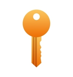 Security key isolated icon vector