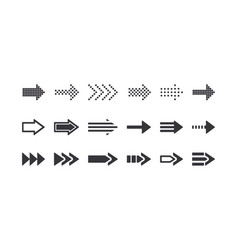 set of arrow signs rewind icons graphic design vector image