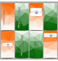 Set of modern flyers Background for Happy Indian vector image